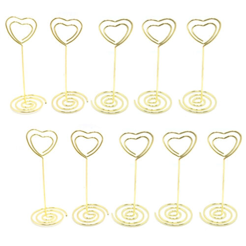 10-40PCS Heart Name //Number Place Card Holders Clip Wedding Favors Table Decor