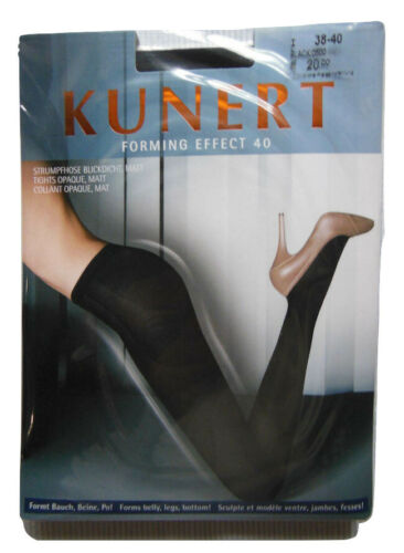 BLACK Bum /& Tum Medium 40-42 Kunert FORMING EFFECT 40 Matt Opaque Shapes Legs