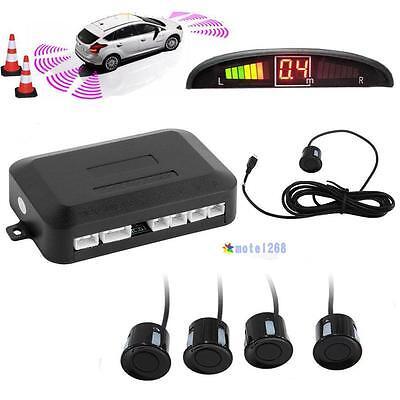 4 Parking Sensors LED Display Car Auto Backup Reverse Radar System Alarm Kit