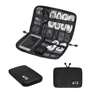 Image Is Loading Black Storage Usb Cable Organizer Bag Case Digital