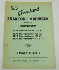 Deutz F2L F3L F4L BF4L 1011 Schulungshandbuch Werkstatthandbuch 10//1991