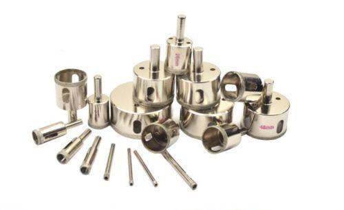 """Diamond coated drills drill bit bits hole saw glass M2184 QL 3x 16mm 5//8/"""" inch"""