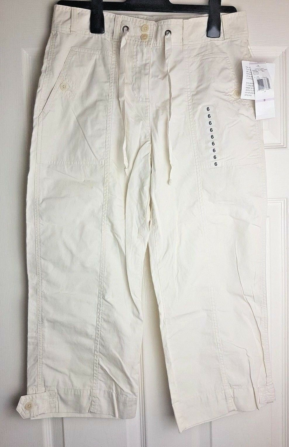Jones New York Sport Ladies Cargo Seamed Cropped Pants Trousers US 6
