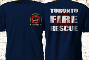 New Toronto Canada Firefighter Fire Department police firearm Navy T-Shirt S-3XL