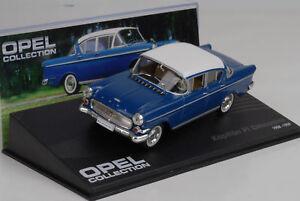 1958-1959-Opel-Capitaine-P1-Limousine-Bleu-Bleu-1-43-Ixo-Altaya-Collection