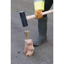 Wood Log Grenade Bomb Splitting Splitter Split Axe Wedge maul Fire Woodburner