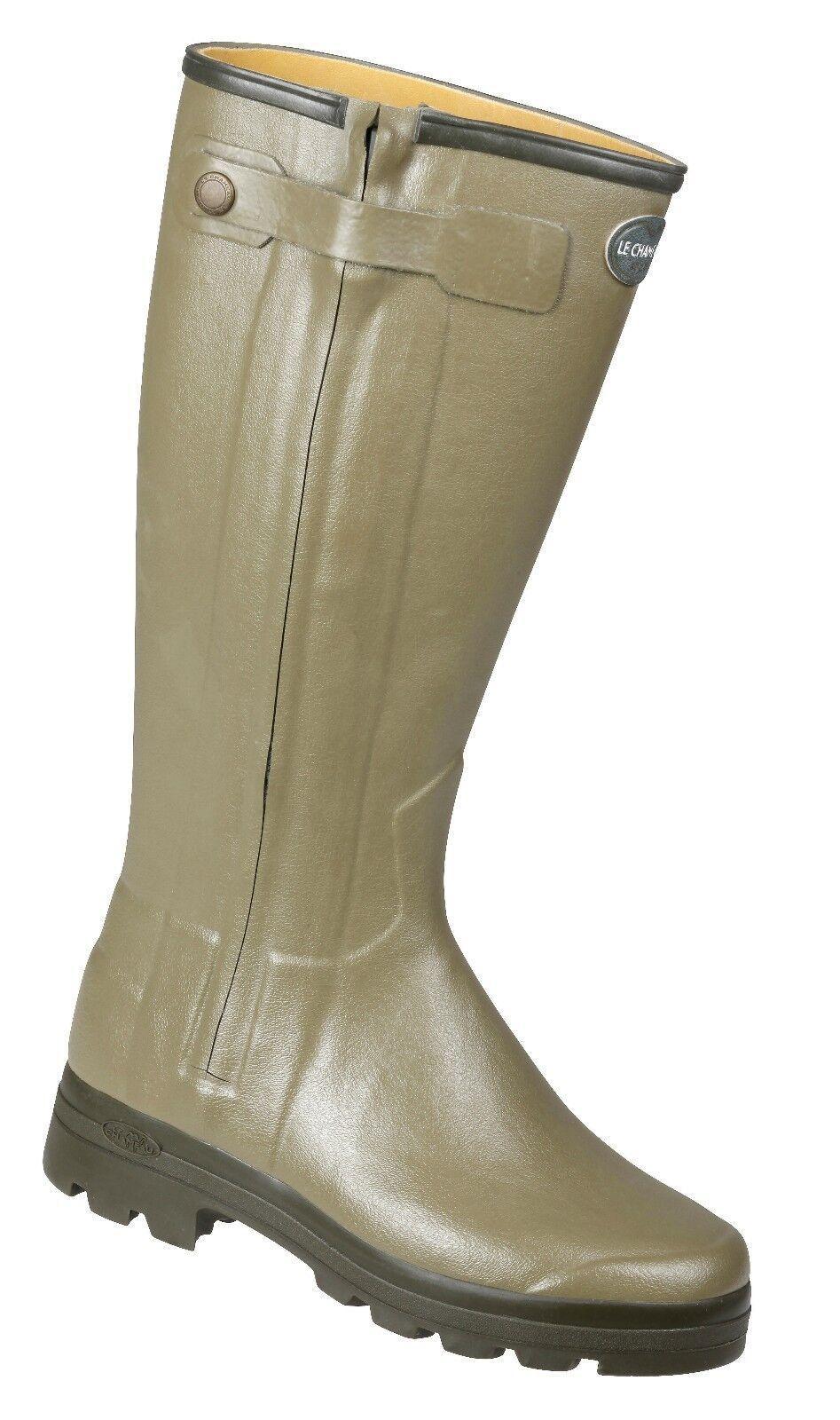 Le Chameau Chasseur Leather Lined Wellingtons