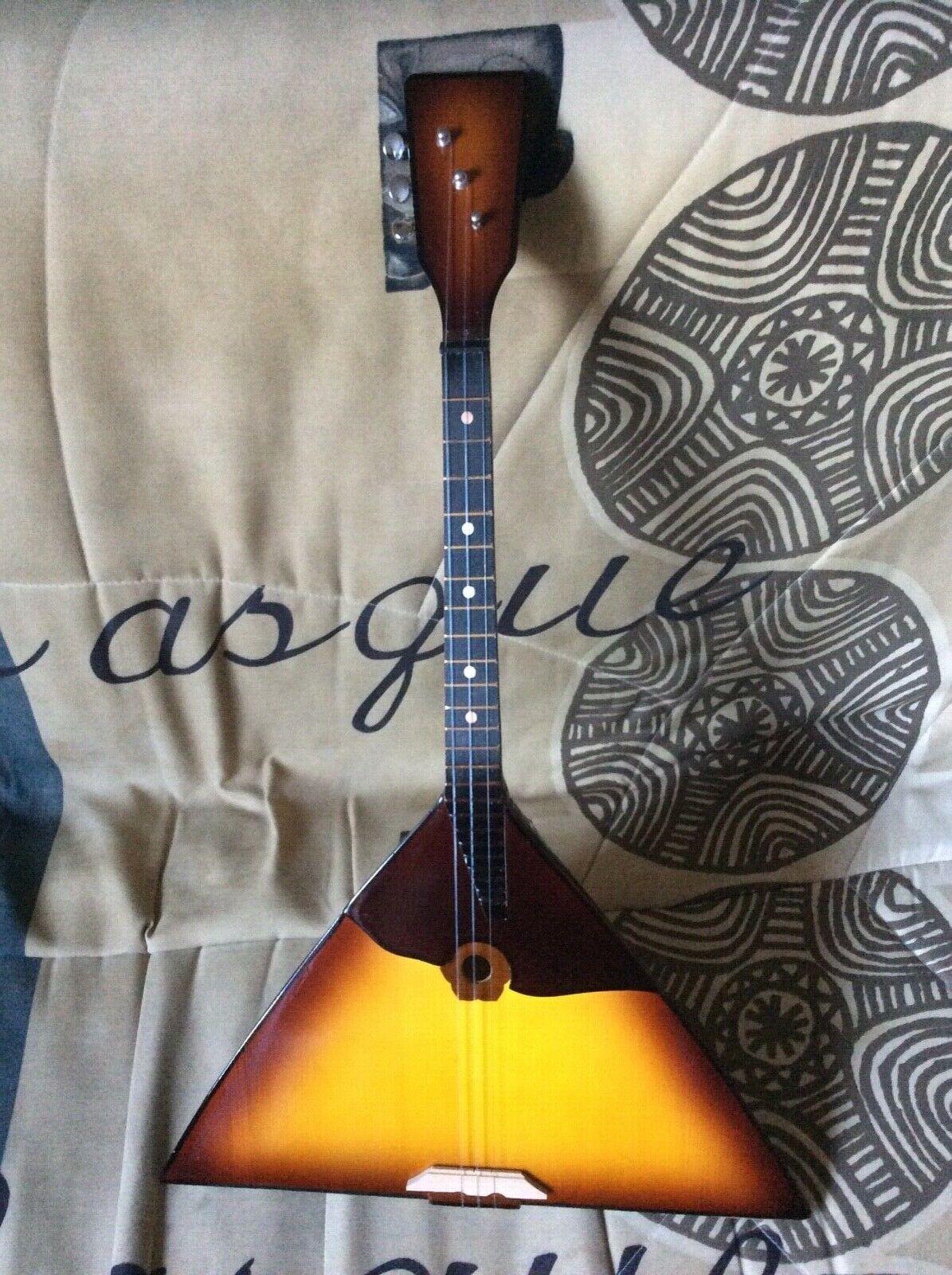 Russian Balalaika real folk musical instrument Prima 3 string with case