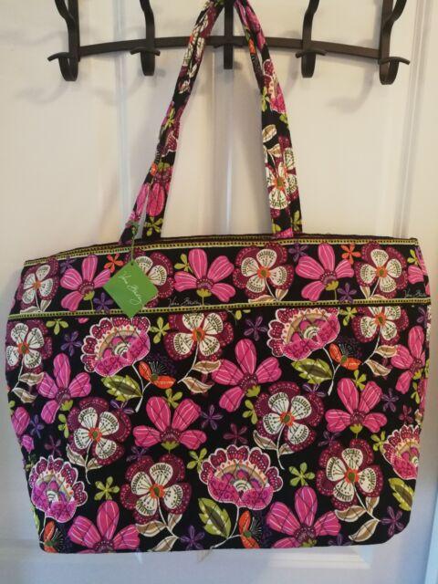 Vera Bradley Xl Grand Tote Pirouette Pink Extra Large Bag Per School Travel