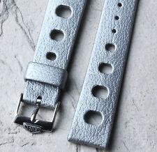 Heuer dive watch Tropic 18mm silver vintage dive watch NOS strap Heuer buckle