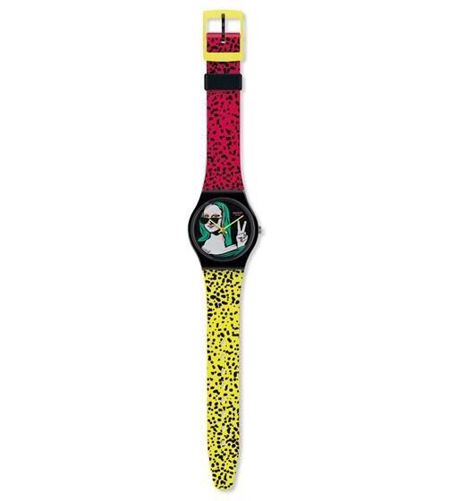 Swatch Claudia Cariera's Lisa Fan - Mona Lisa - Mint Condition - GZ280