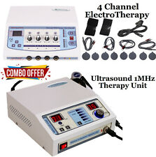 Combo Ultrasound Therapy 1mhz Unit 4 Channel Electrotherapy Pain Relief Machine