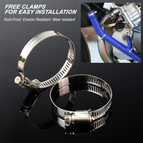 For YAMAHA YZ125 Silicone Radiator Coolant Hose /& Free Clamps Kit 2003-2008