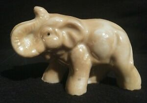 Vintage-Made-in-Japan-Marked-Miniature-Ceramic-Elephant-Figurine-1-5-034-Tall