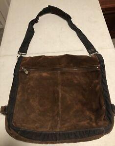 Details About Brown Wilson Leather Messenger Bag Shoulder Laptop Bookbag Aa52
