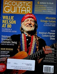 Acoustic Guitar Magazine December 2013 Willie Nelson at 80 m593