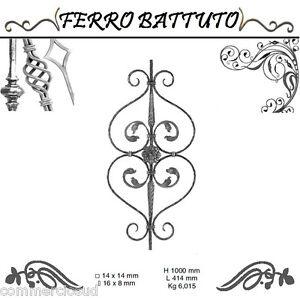 Home & Garden Pannelli Paletti Fogliati Ferro Battuto X Scala Ringhiere Cancello H100cm L 41cm To Make One Feel At Ease And Energetic