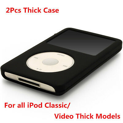White Silicone Skin Cover Case fr iPod Video 5th 80GB Classic 6th 160GB THICK X2