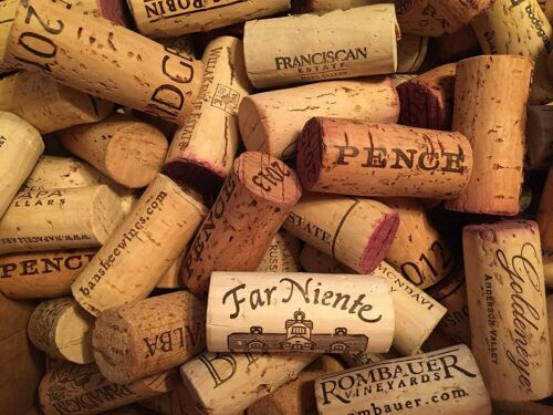 Lot of 500 Used Wine Corks No Champagne No Synthetics