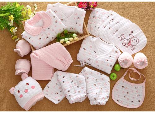 19 Pcs//Set Cotton Newborn Baby Girl Clothes Winter Autumn Baby Boy Clothing Set