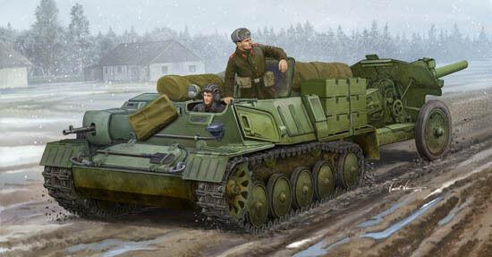 Soviet AT-P Artillery Tractor 1 35 Plastic Model Kit TRUMPETER