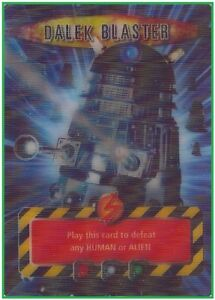 Dr-Doctor-Who-DALEK-BLASTER-Card-Battles-in-Time-Moving-Image-MINT-CONDITION