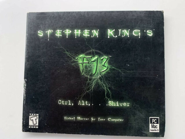 Rare Stephen King's F13: Ctrl, Alt, Shiver, Interplay Computer Game PC MAC