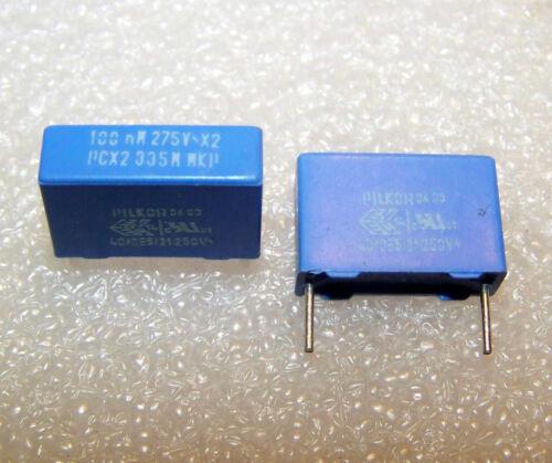 1 pezzo Condensatore Film Polipropilene 100nF 275V ac 0,1uF Class x 2 PILKOR