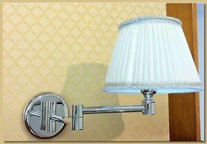Applique lampada da muro ottone cromato doppio snodo art. ap 305