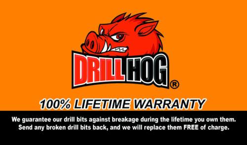 "Drill Hog USA 1//2/"" Drill Bit 1//2/"" Bit HI-Molybdenum M7 HSS Lifetime Warranty"