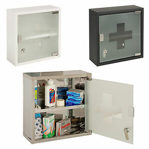 Image Is Loading Wall Mountable Medicine Cabinet Cupboard Lockable Keys First