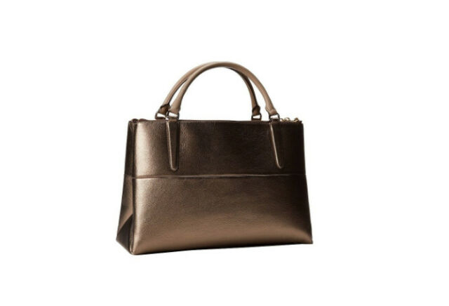 coach borough medium satchel bag in metallic gold leather 32323 ebay rh ebay com