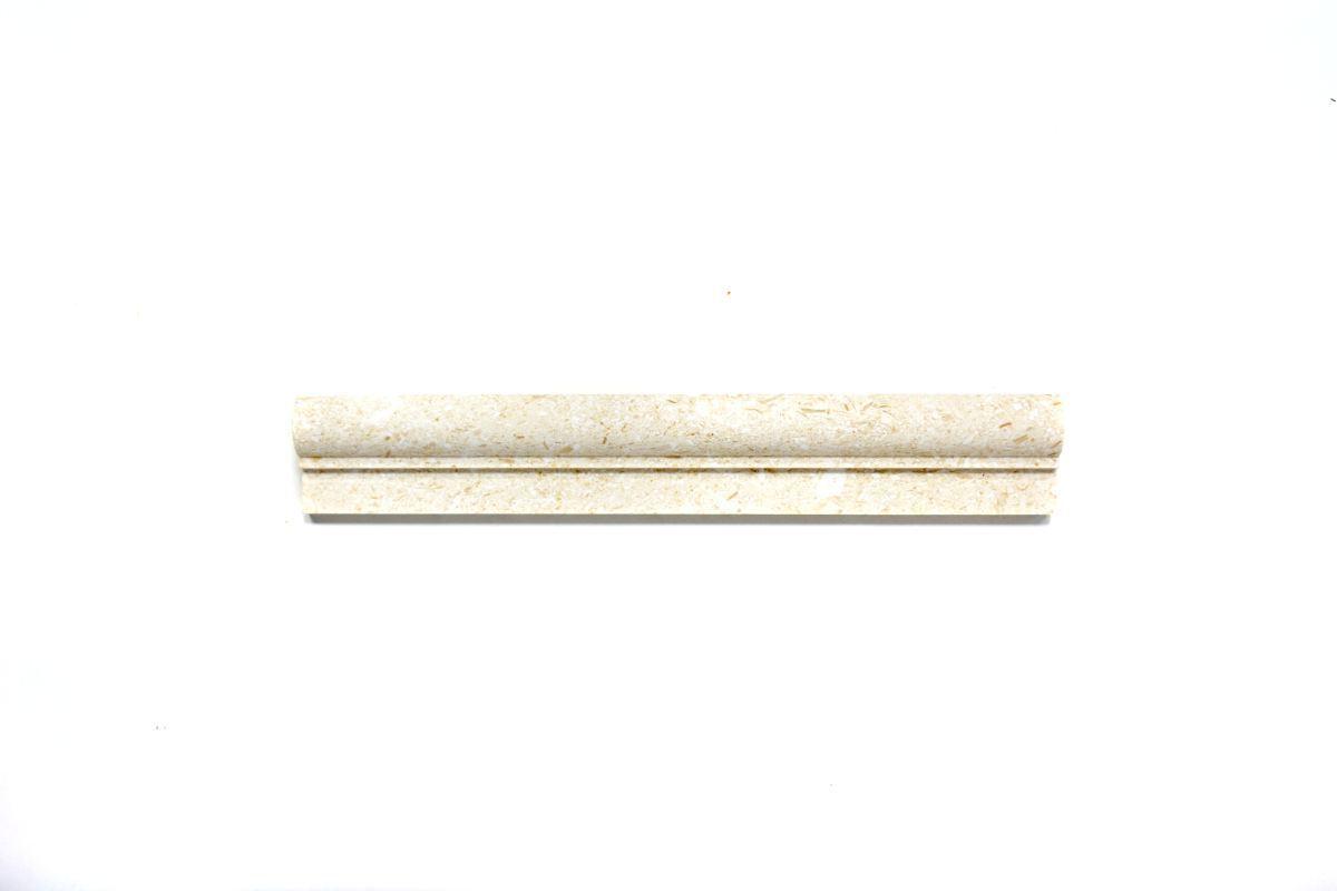 Bordüre Naturstein Boden Colonial weiss creme Limestone Prof-49348   10 Bordüren