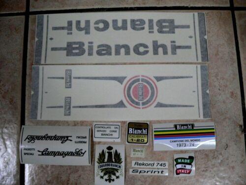 Bianchi bici Bike 11 Vinyl Decals Stickers Frame Replacement Set vintage adesivi