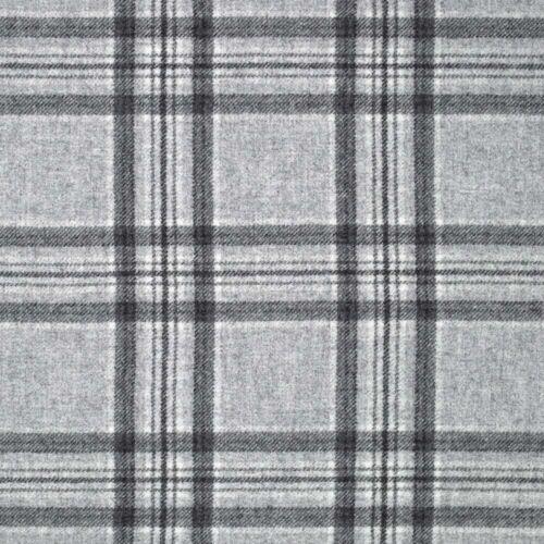 NEW Abraham Moon Aspen Grey 100/% Wool Tartan Fabric RRP £53.95 SALE PRICE £31.45