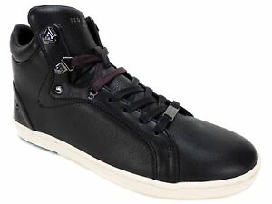61433b706 Ted Baker Men s Alcaeus Hi Top Fashion Sneakers Black Leather Size 8 ...