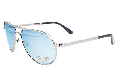 8d0d7dce0b7 Authentic Tom Ford Marko FT 144 14x Silver Aviator Sunglasses Italy ...