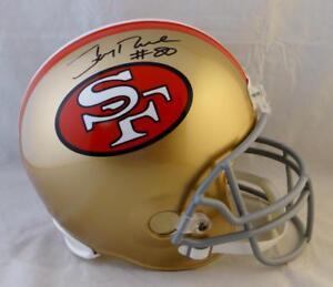 ea44c1e78 Jerry Rice  80 Autographed San Francisco 49ers F S 64-95 TB Helmet ...