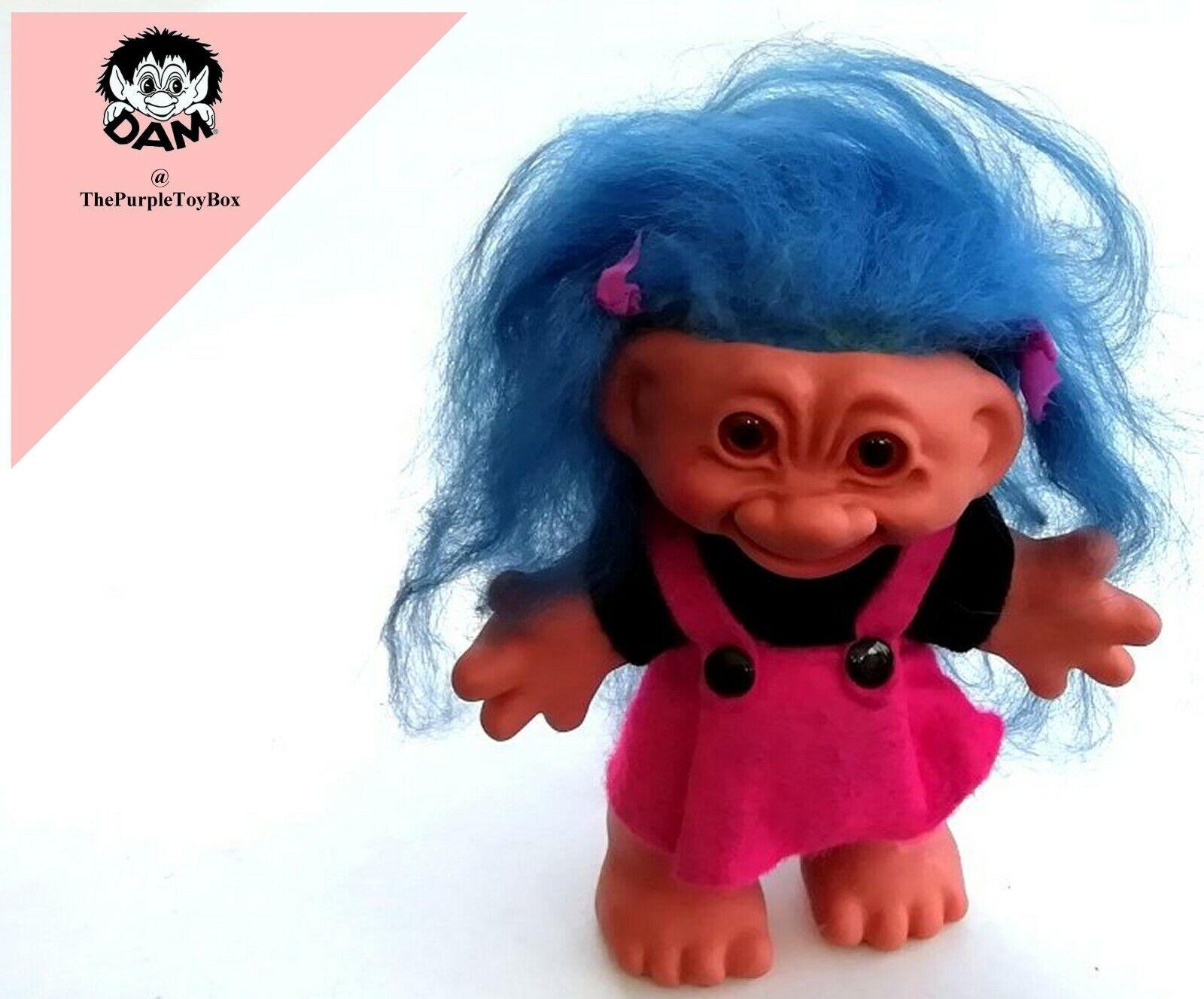 Vintage 1960's Thomas Dam Trolls  Ltd Editon GIRL TROLL  6  Tall Doll