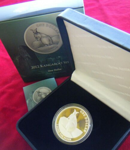 1oz Silver Proof Coin 2012 Australian Silver Kangaroo Mareeba Rock Wallaby RAM