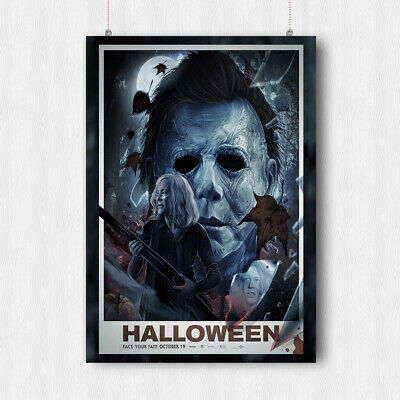 HALLOWEEN HORROR MOVIE POSTER PRINT WALL SCARY ART MIKE MYERS A4 A3 SIZE