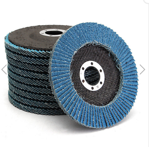 10pcs 4.5 Inch 60 Grit Zirconia Flap Disc Sanding Grinding Wheels