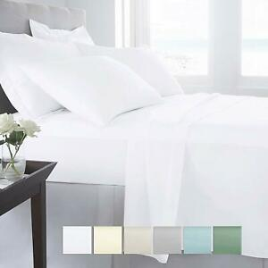 Image Is Loading Luxury Collection 100 Cotton Percale Sheet Set Deep