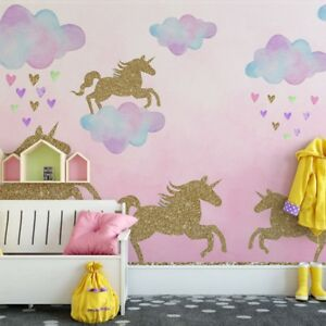 Details About Unicorn Clouds Wall Sticker Kids Rooms Nursery Mural Decals Painting Art Decor