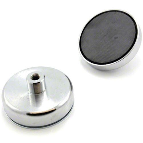 80mm dia x 32mm tall x M10 thread Ferrite Pot Magnet - 60kg Pull (Pack of 20)