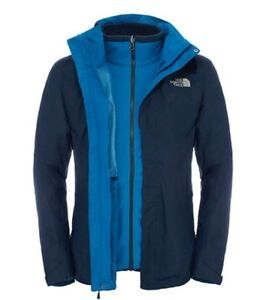 quality design 27204 5e67e Details about The North Face Men's Evolution II Triclimate Jacket Men's  Jacket Urban Navy