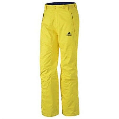 Adidas ClimaProof Storm RECCO Winter Lined Snow Ski Pants Men G82792 Yellow M XL