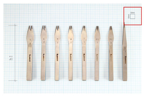 Size#13 2.07mm Vergez Blanchard Pricking Irons Leather Stitching Punch Chisel