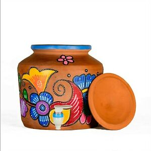 Indian traditional Clay Water Pot Elegant Design