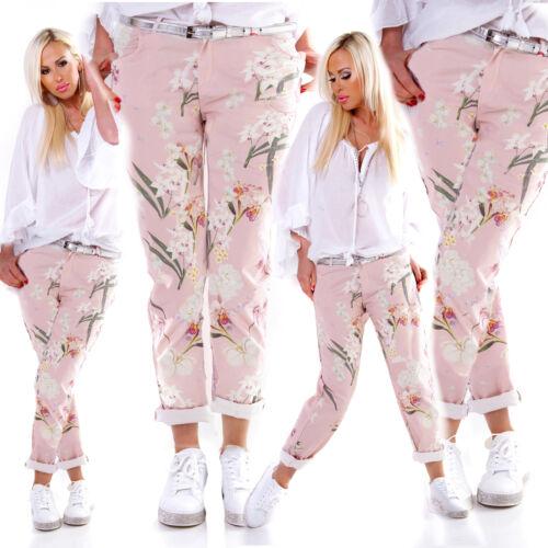 Angesagte Sommer-Hose im Chino-Style mit Kirschblüten-Print